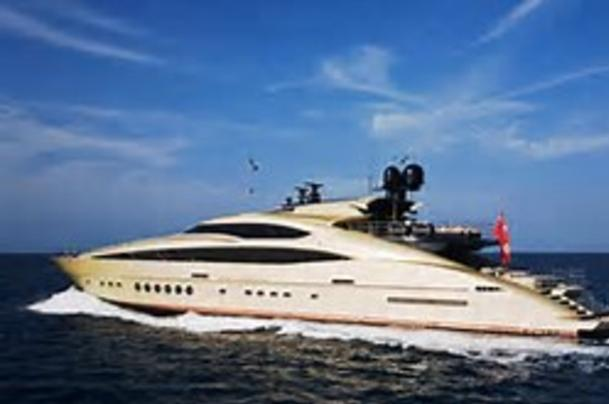 Superyacht dramatic modern styling.